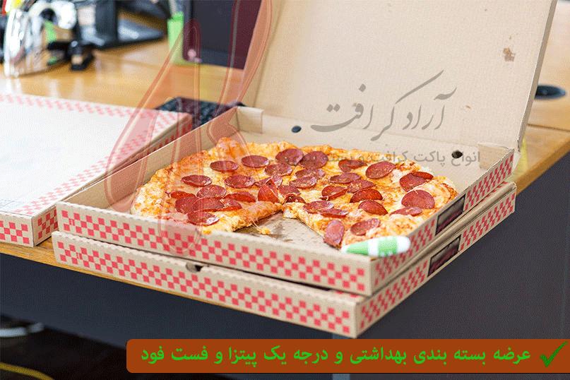 پاکت کرافت پیتزا